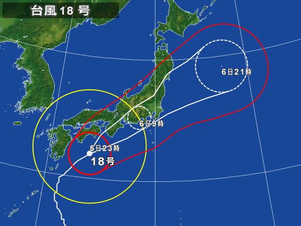 台風18号@2014年進路予測_14100523@Yahoo!天気・災害.jpg